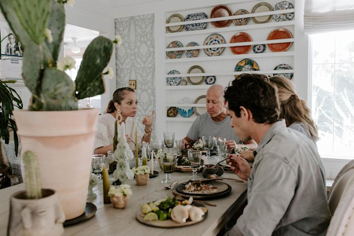 Valladolid and guests enjoy her specially-created holiday meal. (Photo: Cecilia Martin Del Campo)