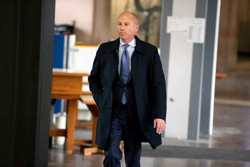 CHICAGO, IL - FEBRUARY 23: Attorney Michael Avenatti arrives at the Leighton Criminal Courthouse for R. Kelly's first court appearance on February 23, 2019 in Chicago, Illinois. (Photo by Nuccio DiNuzzo/Getty Images)