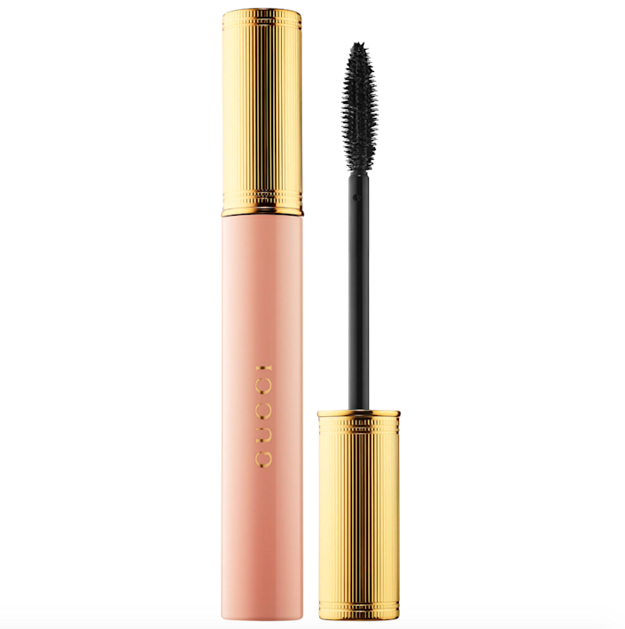 """""""Never in my life did I think I'd be in a position to say my favorite mascara was one made by Gucci, but here I am, living large. Label and aesthetically pleasing pink-and-gold packaging aside, when I first tried <a href=""""https://www.allure.com/story/gucci-beauty-mascara-l-obscur-review?mbid=synd_yahoo_rss"""" rel=""""nofollow noopener"""" target=""""_blank"""" data-ylk=""""slk:Gucci's L'Obscur Mascara"""" class=""""link rapid-noclick-resp"""">Gucci's L'Obscur Mascara</a>, I was immediately drawn to the formula, which is made to lengthen and define — rather than thicken — my wispy lashes. I typically only need a coat or two to see immediate natural-looking length and never have to worry about annoying clumping or mid-day smudge. Gucci, you made a damn good mascara."""" — <em>Sarah Kinonen, associate beauty director</em>"""