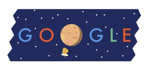 On July 14, 2015, Google honored NASA's New Horizons Pluto flyby with its own Google Doodle.