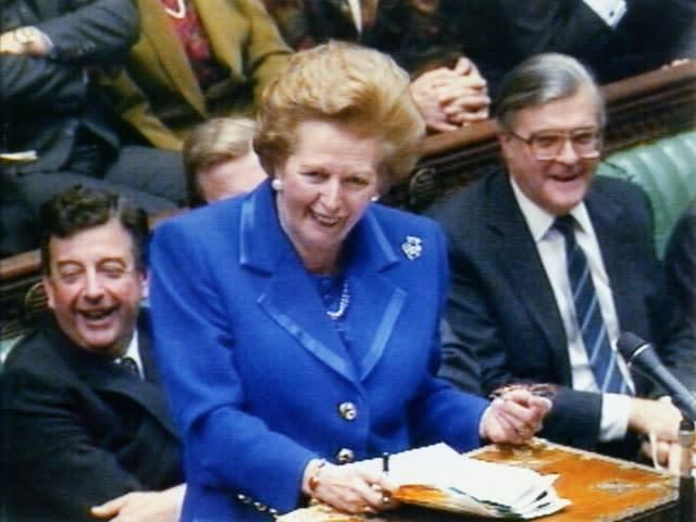 Margaret Thatcher was prime minister (PA)