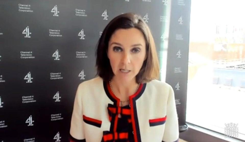 Channel 4 chief executive Alex Mahon said it would meet its target to spend 50% of money on programming outside of London in 2021 – two years early. (House of Commons/PA)