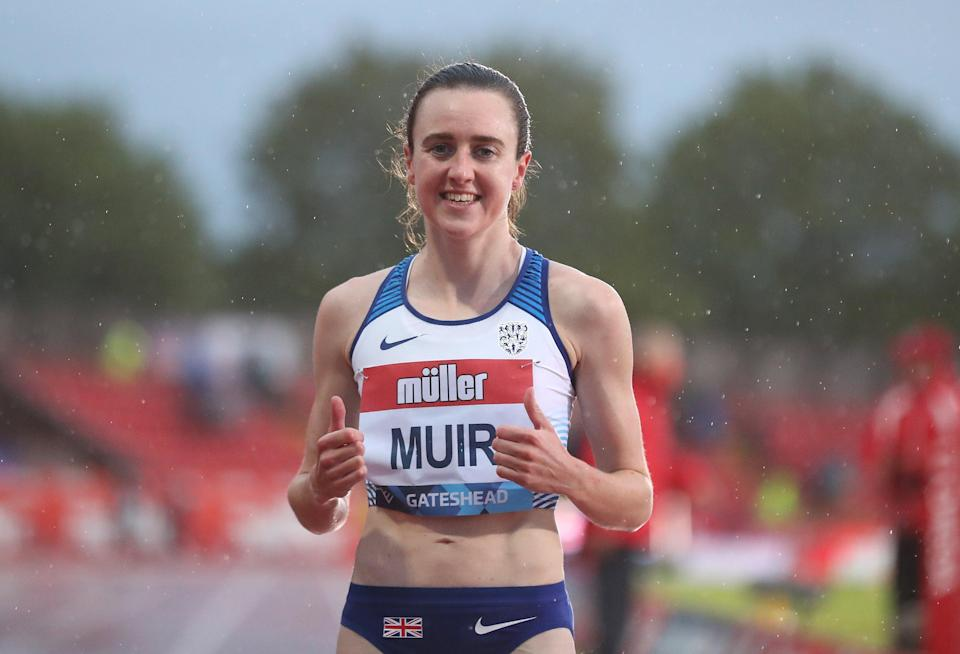 Laura Muir races in the 1500m heats at the Olympics on Monday (Martin Rickett/PA) (PA Wire)