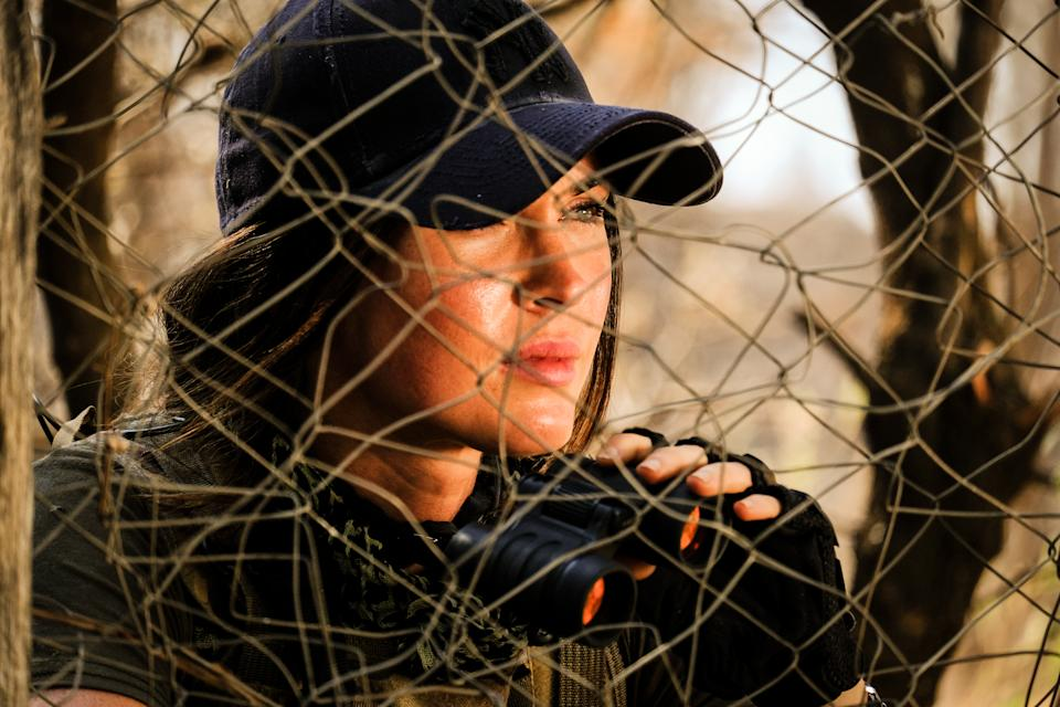 Megan Fox in the new action movie 'Rogue' (Photo: Lionsgate)