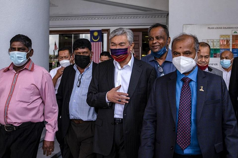 Datuk Seri Ahmad Zahid Hamidi's lawyer Hamidi Mohd Noh argued that that it was his client's former executive secretary Major Mazlina Mazlan @ Ramly who should be blamed for the use of Yayasan Akalbudi's cheques for the credit card payments. — Picture by Firdaus Latif