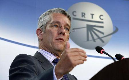 CRTC Chairman Jean-Pierre Blais speaks during a news conference in Gatineau