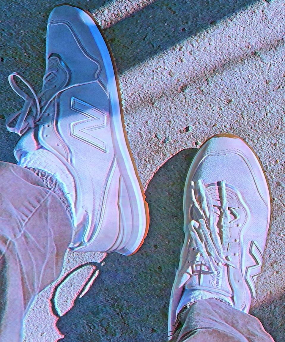"<h2>New Balance Sola Sleek Classic Running Shoe</h2><br><strong>Last Month's Top MVP:</strong><br>""This one is for my fellow plain white/cream sneaker collectors. I bought these this month because I've worn my Reeboks down to the bone and needed a new go-to. They are super comfortable and give off a 90s dad walking around Disneyland vibe that unfortunately goes with everything else in my wardrobe (hence the 90s Instagram filter I used for my pic). The wondrous Nordstrom Rack price tag sold me and I will say, they are fab. I also recommend going half a size up!"" <em>– Alexandra Polk, Lifestyle Writer</em><br><br><em>Shop <strong><a href=""https://www.nordstromrack.com/s/n3490365"" rel=""nofollow noopener"" target=""_blank"" data-ylk=""slk:Nordstrom Rack"" class=""link rapid-noclick-resp"">Nordstrom Rack</a></strong></em><br><br><strong>New Balance</strong> Sola Sleek Classic Running Shoe, $, available at <a href=""https://go.skimresources.com/?id=30283X879131&url=https%3A%2F%2Fwww.nordstromrack.com%2Fs%2Fn3490365"" rel=""nofollow noopener"" target=""_blank"" data-ylk=""slk:Nordstrom Rack"" class=""link rapid-noclick-resp"">Nordstrom Rack</a>"