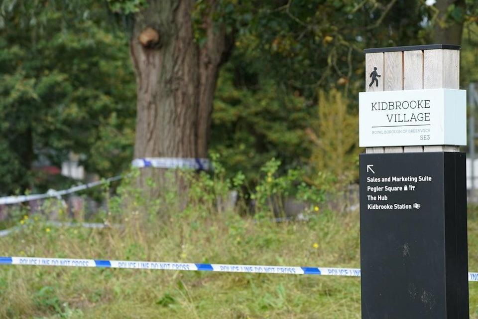 Police tape in Cator Park (Ian West/PA) (PA Wire)