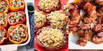 """<p>Christmas is all about over-indulging, which means special breakfasts, starters, <a href=""""https://www.delish.com/uk/cooking/recipes/g29696768/christmas-dinner-ideas/"""" rel=""""nofollow noopener"""" target=""""_blank"""" data-ylk=""""slk:main meals"""" class=""""link rapid-noclick-resp"""">main meals</a> and <a href=""""https://www.delish.com/uk/cooking/recipes/g29684879/christmas-dessert-recipes/"""" rel=""""nofollow noopener"""" target=""""_blank"""" data-ylk=""""slk:desserts"""" class=""""link rapid-noclick-resp"""">desserts</a> (plus nibbles for later). It's basically a day jam-packed with eating, but we're not complaining. So, you'll be requiring some delicious-tasting, fairly simple starters to get things going. We're talking <a href=""""https://www.delish.com/uk/cooking/recipes/a34267339/bacon-wrapped-water-chestnuts-recipe/"""" rel=""""nofollow noopener"""" target=""""_blank"""" data-ylk=""""slk:Bacon-Wrapped Water Chestnuts"""" class=""""link rapid-noclick-resp"""">Bacon-Wrapped Water Chestnuts</a>, <a href=""""https://www.delish.com/uk/cooking/recipes/a32751677/shrimp-cocktail-recipe/"""" rel=""""nofollow noopener"""" target=""""_blank"""" data-ylk=""""slk:Classic Prawn Cocktail"""" class=""""link rapid-noclick-resp"""">Classic Prawn Cocktail</a> and <a href=""""https://www.delish.com/uk/cooking/recipes/a29707806/cranberry-brie-pull-apart-bread-recipe/"""" rel=""""nofollow noopener"""" target=""""_blank"""" data-ylk=""""slk:Cranberry Brie Pull-Apart Bread"""" class=""""link rapid-noclick-resp"""">Cranberry Brie Pull-Apart Bread</a>, those sort of things. And there's more where that came from! </p>"""