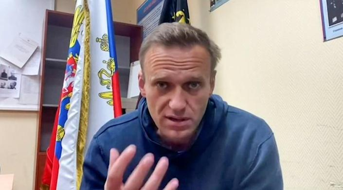 Russian opposition leader Alexei Navalny, pictured here before he was jailed, is now on a hunger strike demanding proper medical treatment while in a penal colony.