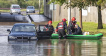 Flood warnings were in place across the country over the weekend as Storm Alex took its toll. (SWNS)