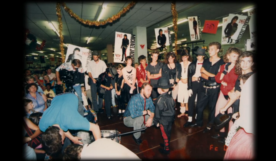 Peter Andre in the background in Leaving Neverland (Credit: HBO/C4)