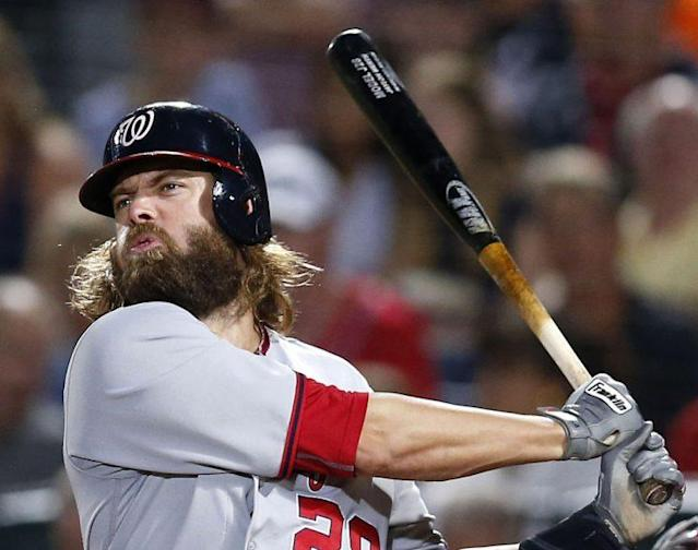 If Jayson Werth was on the Marlins, he'd have to trim that beard. (Getty Images)