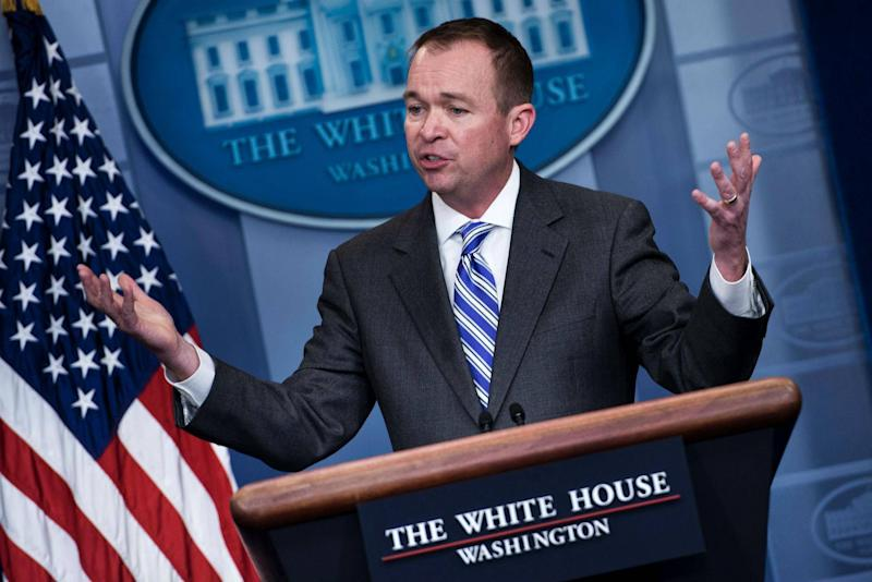 ProPublica obtained records on who White House Budget Director Mick Mulvaney met with (BRENDAN SMIALOWSKI/AFP/Getty Images)