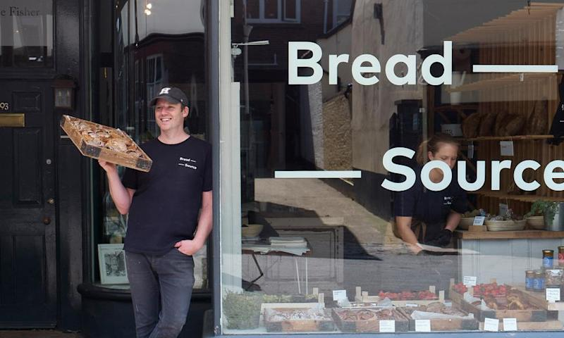 Steven Winter at his bakery, Bread Source.