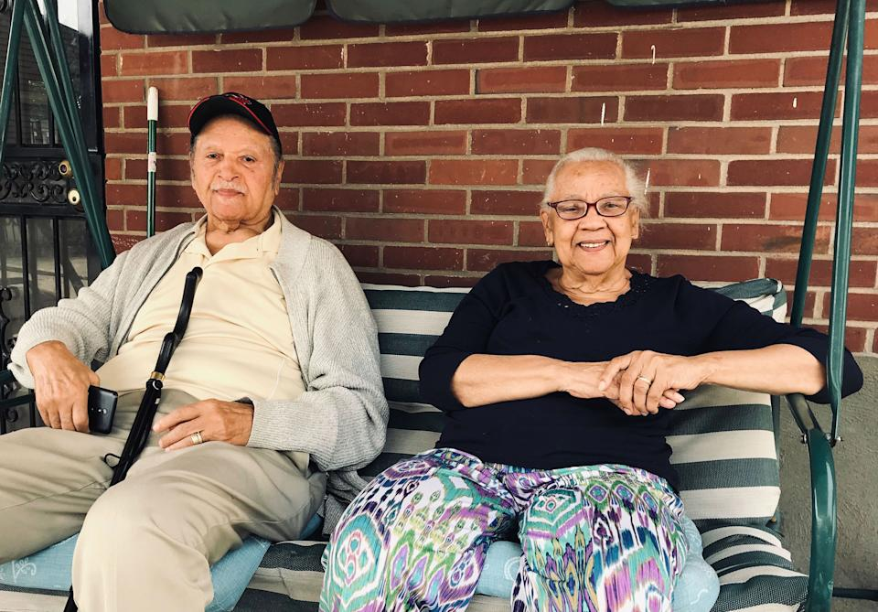 Lawrence and Violet Montgomery still live on Louisville's Grand AveAndrew Buncombe