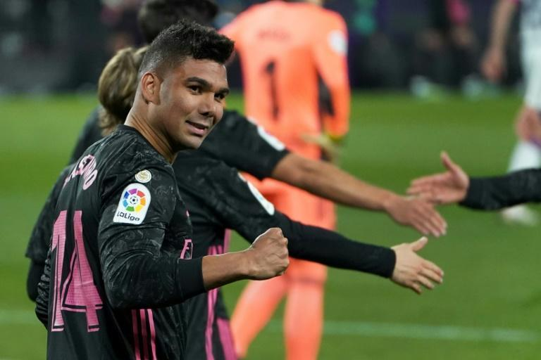 Casemiro scored the winner as Real Madrid beat Real Valladolid on Saturday