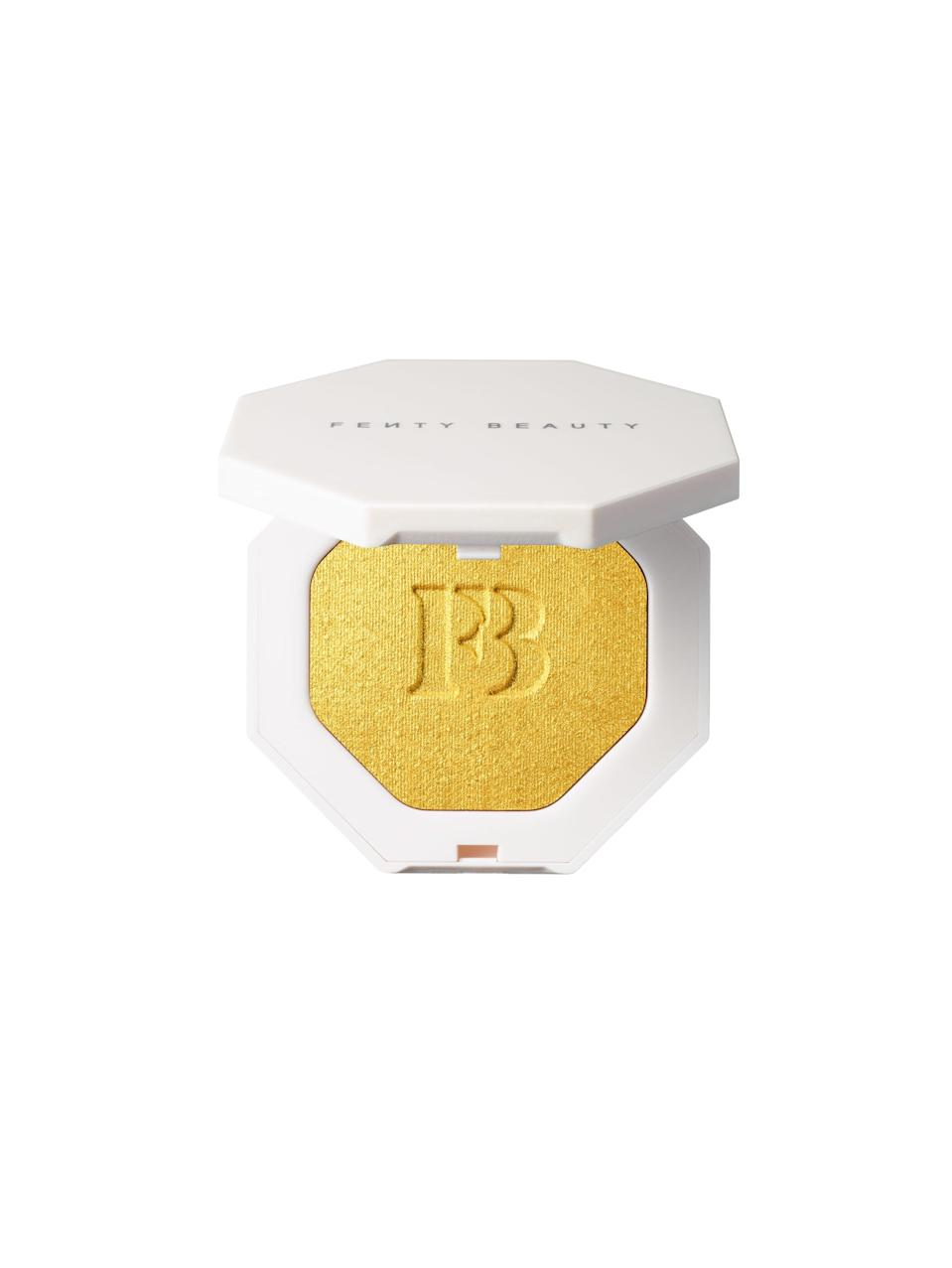 <p>Grab anything from this buzzed-about beauty brand and you're sure to be holiday MVP. This <span>Fenty Beauty Killawatt Freestyle Highlighter in Trophy Wife</span> ($34) is pretty much party perfection in a compact.</p>