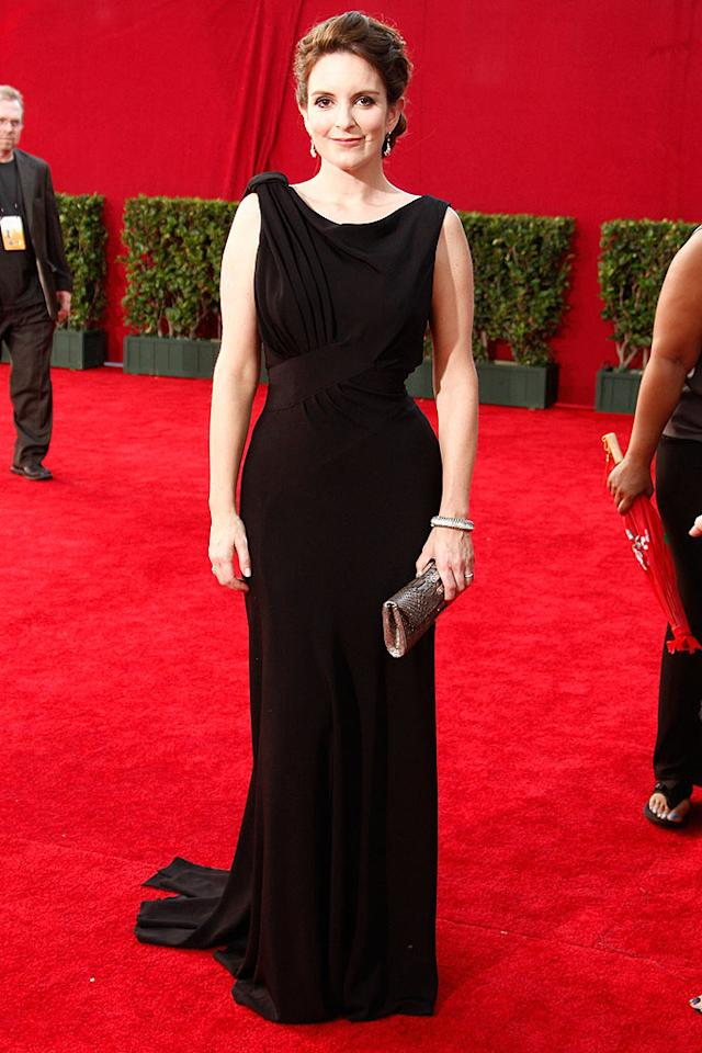 "Tina Fey (""30 Rock"") arrives at the 61st Primetime Emmy Awards held at the Nokia Theatre on September 20, 2009, in Los Angeles."