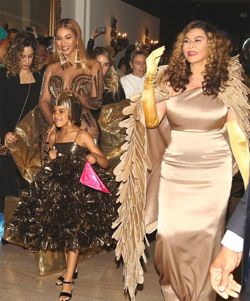 Beyoncé, daughter Blue and mom Tina Knowles Lawson