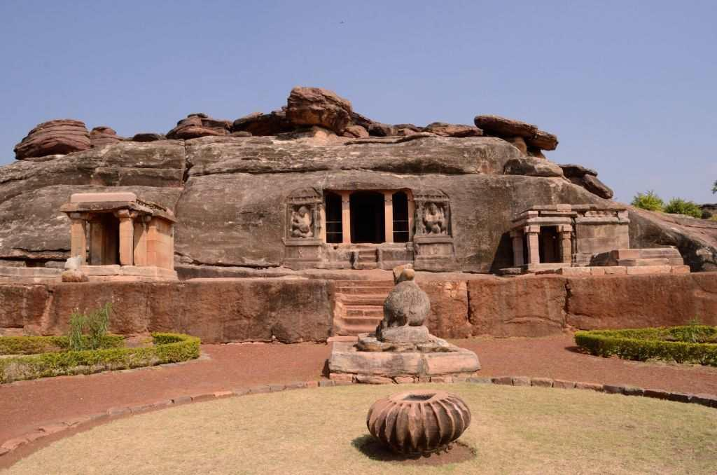 <p>I am completely awestruck the moment I stop at this rock-cut cave, referred to as Ravana or Ravala Phadi.  The 6th century shrine houses a Shivalinga and the pillars and the walls come alive with larger-than-life sculptures of the deities, including one of a Nataraja.</p>
