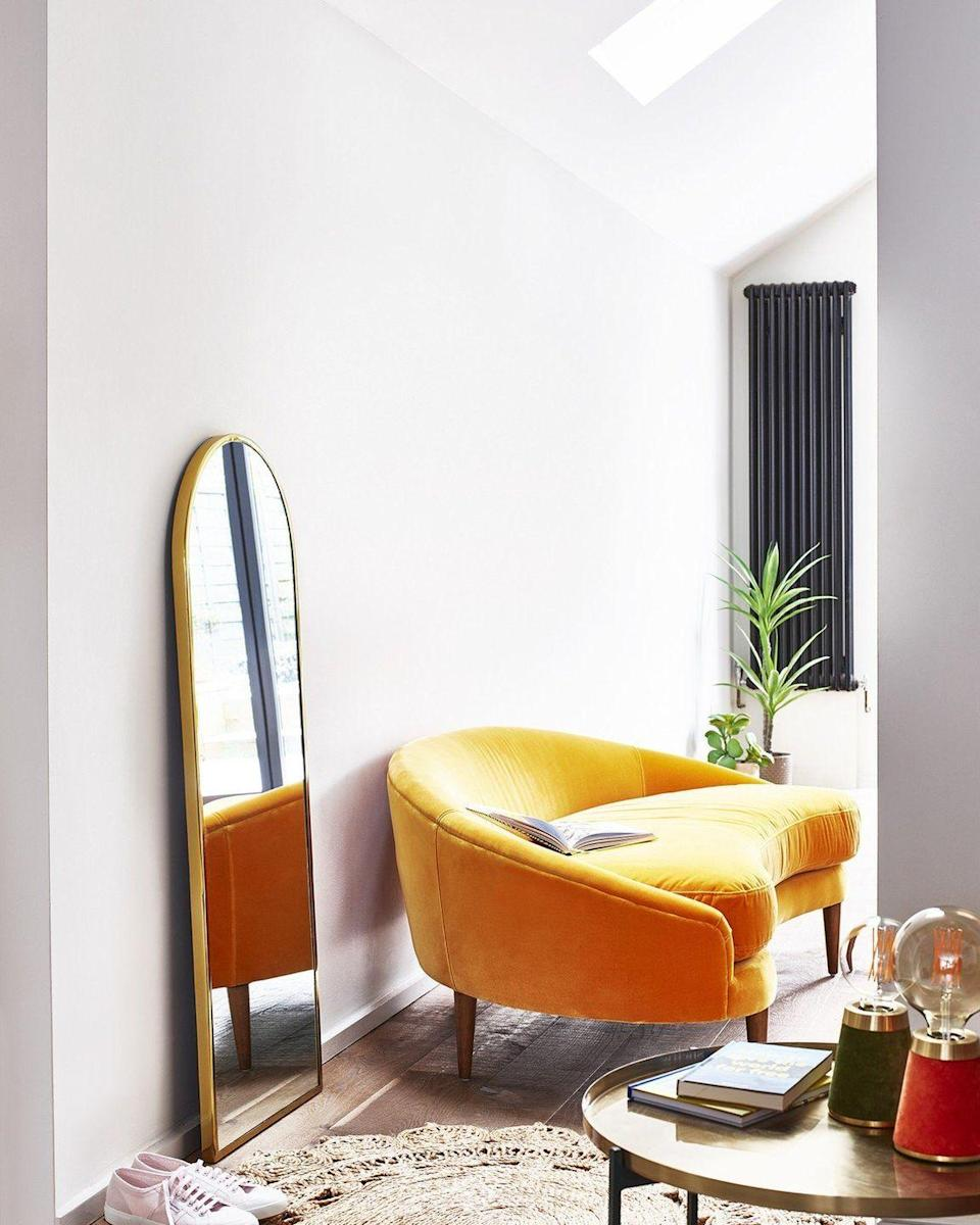 """<p>A joyful choice just making it into the top 10 most popular sofa colours for 2021. A soft yolky yellow like this velvet sofa from Oliver Bonas brightens up a room, and is a deceptively versatile centrepiece, sitting comfortably with natural materials, shades of rusty red, forest green and even burnt orange. </p><p>Pictured: <a href=""""https://go.redirectingat.com?id=127X1599956&url=https%3A%2F%2Fwww.oliverbonas.com%2Ffurniture%2Fluna-mustard-yellow-velvet-sofa-322711%23selection.color%3D2002&sref=https%3A%2F%2Fwww.housebeautiful.com%2Fuk%2Fdecorate%2Fliving-room%2Fg37418005%2Fmost-popular-sofa-colours%2F"""" rel=""""nofollow noopener"""" target=""""_blank"""" data-ylk=""""slk:Luna Mustard Yellow Velvet Sofa at Oliver Bonas"""" class=""""link rapid-noclick-resp"""">Luna Mustard Yellow Velvet Sofa at Oliver Bonas</a><strong><br><br>Follow House Beautiful on <a href=""""https://www.instagram.com/housebeautifuluk/"""" rel=""""nofollow noopener"""" target=""""_blank"""" data-ylk=""""slk:Instagram"""" class=""""link rapid-noclick-resp"""">Instagram</a>.</strong></p>"""