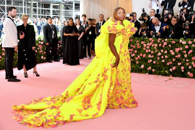 Serena Williams attends The 2019 Met Gala Celebrating Camp: Notes on Fashion at Metropolitan Museum of Art on May 06, 2019 in New York City. (Photo by Dia Dipasupil/FilmMagic)
