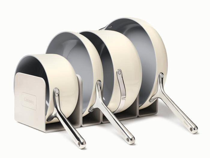 "Even before Black Friday, <a href=""https://fave.co/3nF3uXQ"" target=""_blank"" rel=""noopener noreferrer"">Caraway</a> is offering up to 20% off (depending on what you spend). This cookware set was a popular pick on Prime Day for readers and now you can get it on sale. The set comes with ceramic-coated cookware (fry pan, sauce pan, sauté pan and Dutch oven), magnetic pan racks and canvas lid holder for storage. <a href=""https://fave.co/3nF3uXQ"" target=""_blank"" rel=""noopener noreferrer"">Originally $395, get it now for up to 20% off at Caraway</a>."