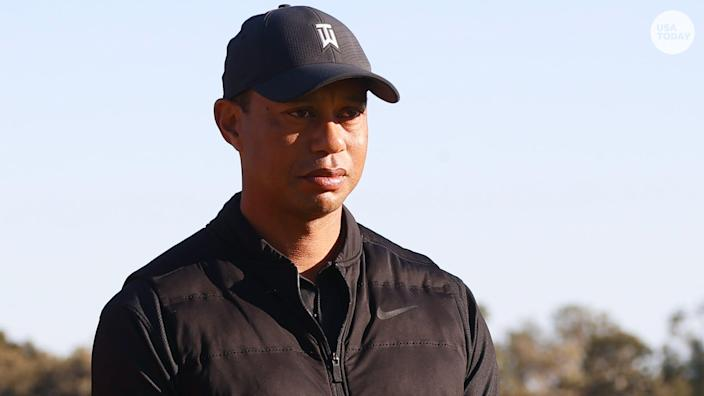 """The L.A. County Sheriff's Department said that Tiger Woods was involved in a single-car crash that left the car with """"major damage."""""""