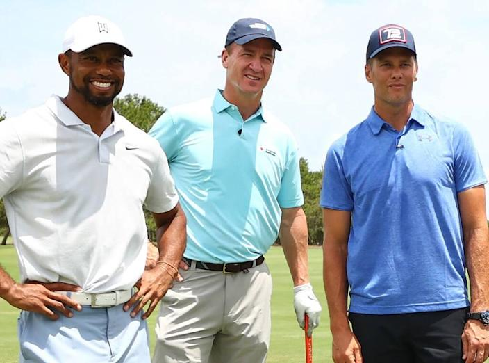 Tiger Woods, Tom Brady, Peyton Manning