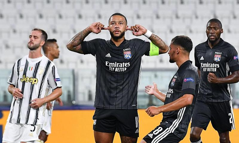 Memphis Depay (after scoring the opening goal during the Champions League win over Juventus in August.