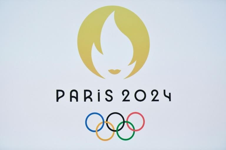 Paris 2024 logo, unveiled in the French capital on Monday (AFP Photo/STEPHANE DE SAKUTIN)