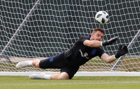 Soccer Football - World Cup - England Training - England Training Camp, Saint Petersburg, Russia - June 17, 2018 England's Jack Butland during training REUTERS/Lee Smith