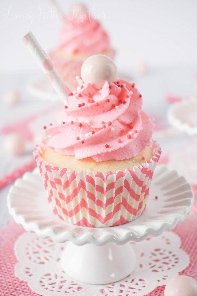 """<p>Warning: These will bring all the boys to the yard. </p><p><a href=""""http://www.sugarandsoul.co/2015/02/strawberry-milkshake-cupcakes.html """" rel=""""nofollow noopener"""" target=""""_blank"""" data-ylk=""""slk:Get the recipe from Sugar & Soul »"""" class=""""link rapid-noclick-resp""""><em>Get the recipe from Sugar & Soul »</em></a></p>"""