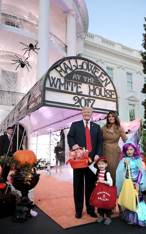 President Trump And First Lady Host Halloween At The White House - Credit: Getty