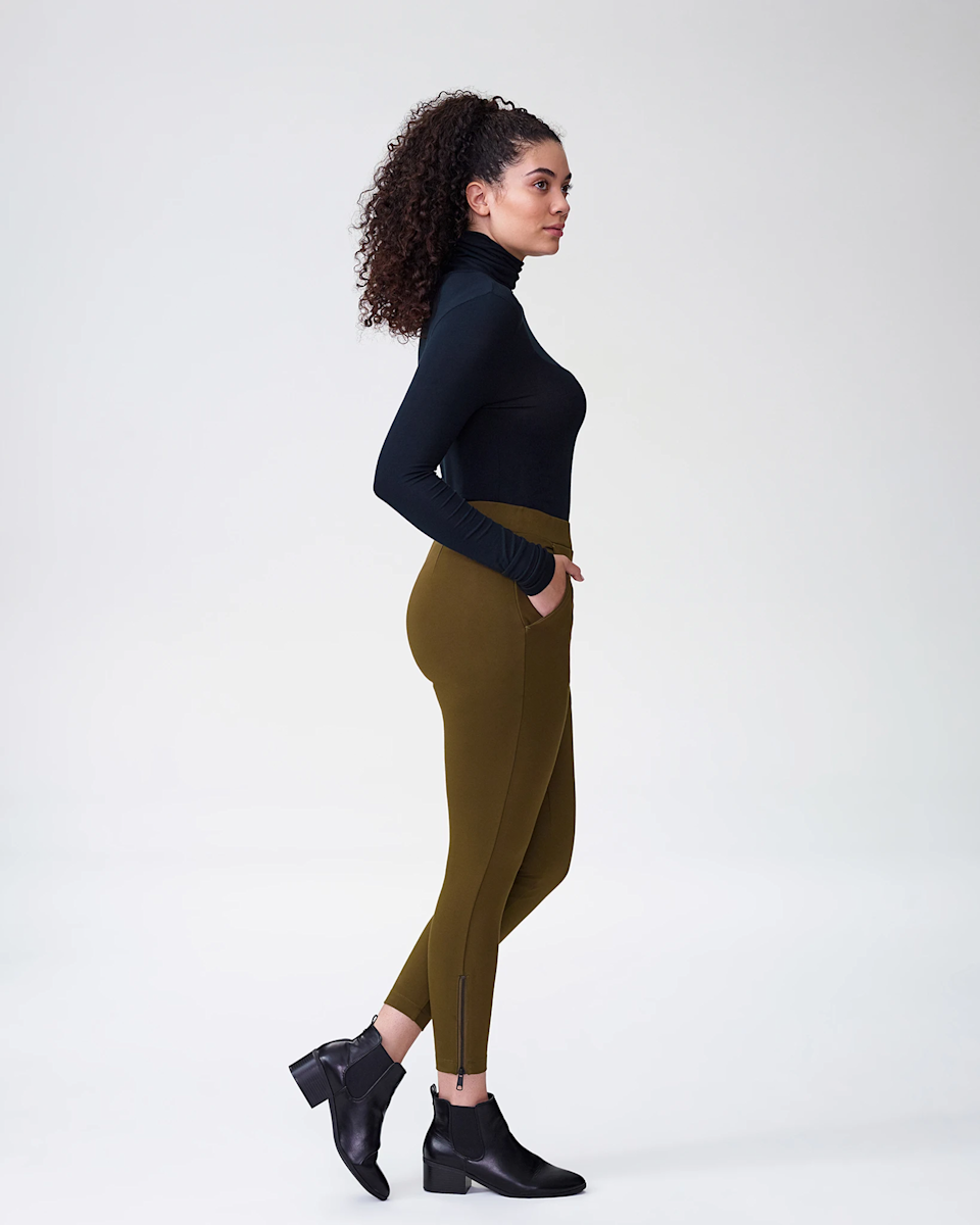 "<h3><a href=""https://www.universalstandard.com/products/moro-pocket-ponte-pants-olive"" rel=""nofollow noopener"" target=""_blank"" data-ylk=""slk:Moro Pocket Ponte Pants"" class=""link rapid-noclick-resp"">Moro Pocket Ponte Pants</a></h3><br>This pair skates the line between pants and leggings in the best way. Lauded for their comfort and inclusive size range of 00-40, this pair of Ponte legging/pants are an investment for at-home wear now and polished office dressing later. <br><br><strong>Universal Standard</strong> Moro Pocket Ponte Pants - Black, $, available at <a href=""https://go.skimresources.com/?id=30283X879131&url=https%3A%2F%2Fwww.universalstandard.com%2Fproducts%2Fmoro-pocket-ponte-pants-black"" rel=""nofollow noopener"" target=""_blank"" data-ylk=""slk:Universal Standard"" class=""link rapid-noclick-resp"">Universal Standard</a>"