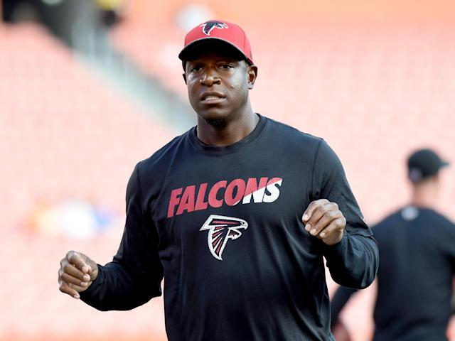 Dan Quinn announced a shuffling of his Falcons coaching staff on Monday, including moving Raheem Morris, above, back to the defensive side of the ball. (Nick Cammett/Getty Images)