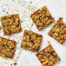 "<p>Breakfast bars are always a great option, because you can grab and go with them when you don't have time for a sit down breakfast. Skip the pre-made bars and make your own with this delicious PB&J recipe. </p><p><em><a href=""https://www.womansday.com/food-recipes/a32675263/pbandj-bars-recipe/"" rel=""nofollow noopener"" target=""_blank"" data-ylk=""slk:Get the PB&J Bars recipe."" class=""link rapid-noclick-resp"">Get the PB&J Bars recipe.</a></em></p>"