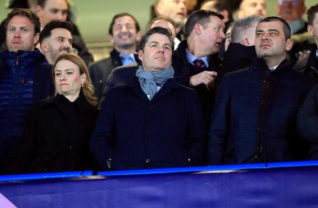 Premier League chief executive Richard Masters (centre) is not expecting an imminent change to the competitions three-substitutes rule