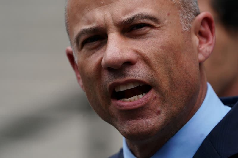 FILE PHOTO: Lawyer Michael Avenatti speaks as he departs federal court in the Manhattan borough of New York