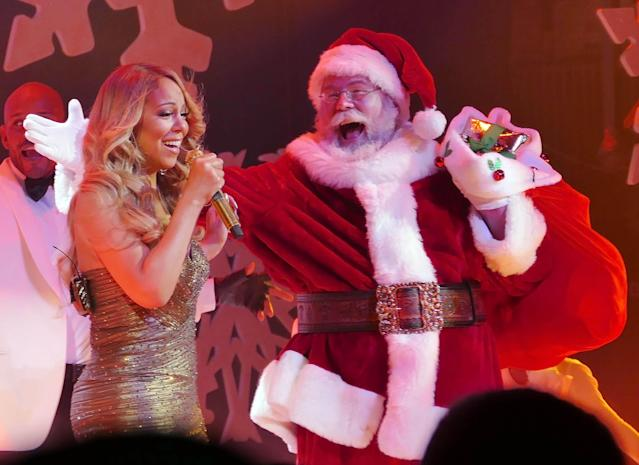 Mariah Carey has given us a glimpse into her family Christmas celebrations (Credit Getty)