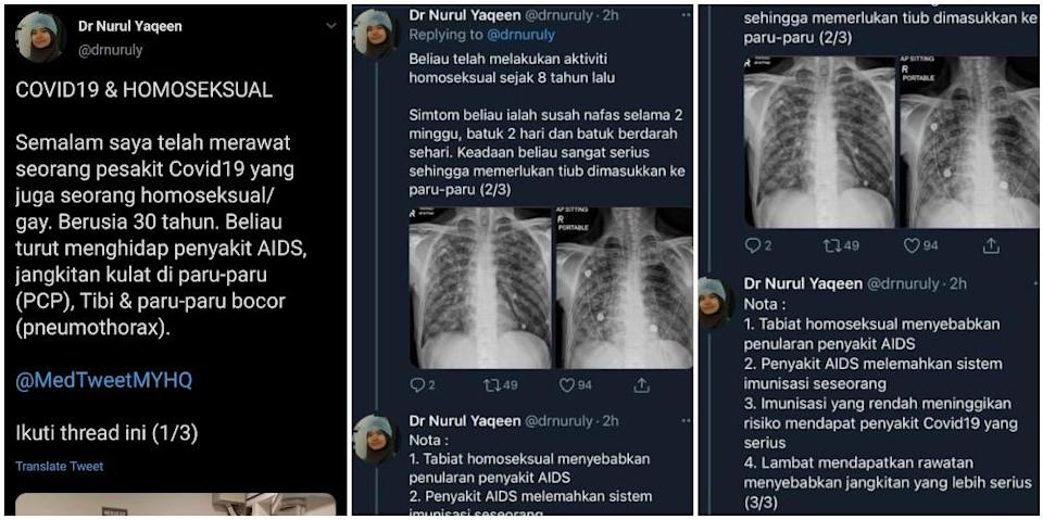 Deleted tweets by Nurul Yaqeen. Photos: Drnuruly/Twitter