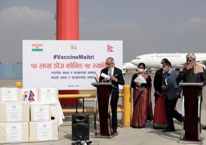 First batch of COVID-19 vaccines arrives in Kathmandu
