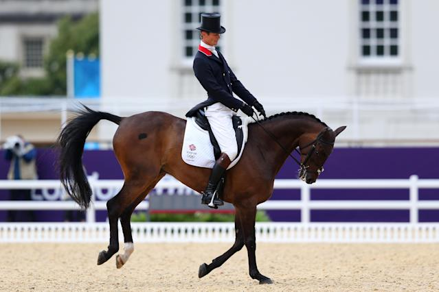 LONDON, ENGLAND - JULY 29: William Fox-Pitt of Great Britain riding Lionheart competes in the Dressage Equestrian event on Day 2 of the London 2012 Olympic Games at Greenwich Park on July 29, 2012 in London, England. (Photo by Alex Livesey/Getty Images)