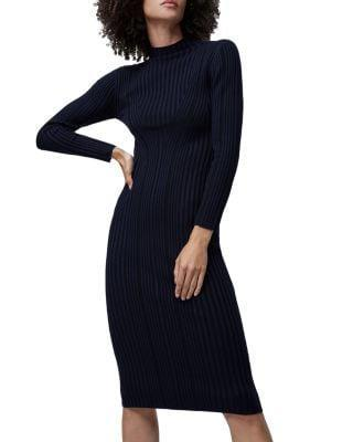 <p>The ribbed details of this <span>French Connection Jolie Textured Mock Neck Dress</span> ($69, originally $138) make it so elevated.</p>