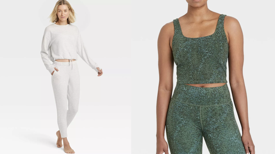 Mix and match separates at Target for a chic exercise outfit.