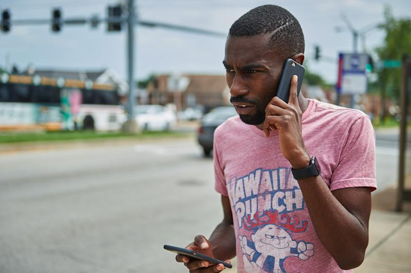 """Deray McKesson, an avid protestor and frontline activist, is seen in St. Louis, Missouri on August 7, 2015. McKesson is one of the most vocal activists since the Ferguson shooting of 18-year-old Michael Brown Jr. in August 2014. The seemingly endless stream of videos and stories showing brutal and outrageous behavior by police has forced the nation to acknowledge the reality of systemic racism, said DeRay Mckesson, an activist with We The Protesters who has nearly 200,000 Twitter followers. """"So much of the work in the past year was focused on exposing and convincing and saying to people 'this is what happened' and 'this is what's wrong', 'believe me and listen',"""" he told AFP. AFP PHOTO / MICHAEL B. THOMAS (Photo credit should read Michael B. Thomas/AFP via Getty Images)"""