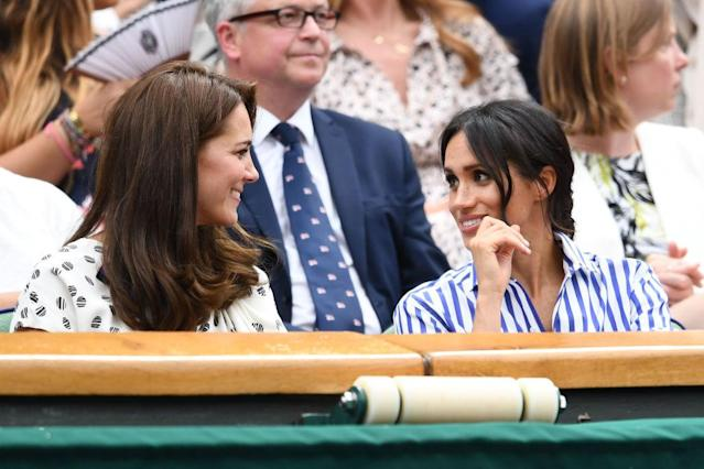 Kate and Meghan at Wimbledon. (Photo: Getty Images)