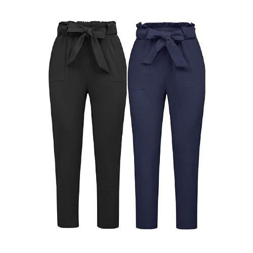 Beyond basic black, these pants are shaped to highlight a small waist. (Photo: Amazon)
