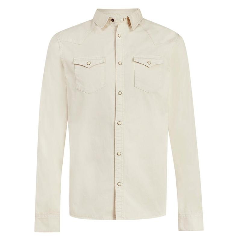 Salur shirt in taupe, £99, AllSaints